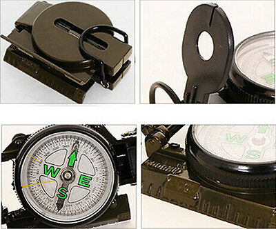 Lensatic Compass Military Camping Hiking Army Style Survival Marching NEW