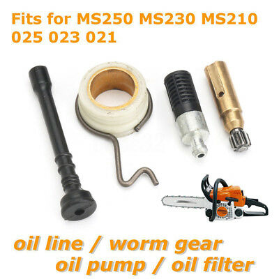 Oil Pump Worm Gear Filter Line for Stihl MS250 MS230 MS210 025 023 021 Chainsaw