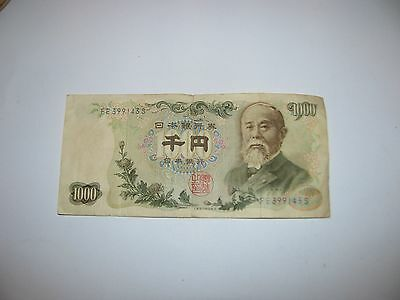 1000 Yen Nippon Ginko Banknote Paper Currency