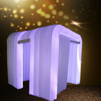 Custom Made Portable Inflatable Tent photo booth enclosure LED light party event