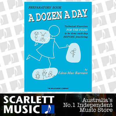 A Dozen a Day - Preparatory /  Prep - Technical Excercises - Piano Book *NEW*