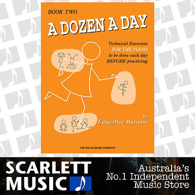 A Dozen a Day - Book 2 ( Two / Second ) Technical Excercises - Piano By Edna-Mae
