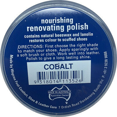 COBALT BLUE Shoe Polish Cream - for  Leather SHOES / BOOTS/ Bags  WAPROO