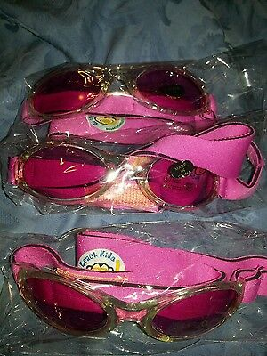 NEW (3) Pair of Pink BABY INFANT Brazil Kids SUNGLASSES UV 400 protection