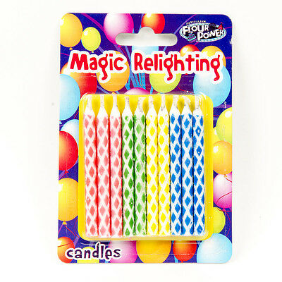 Magic Relighting Candles Trick Birthday Party Fun Candles 10 Pieces