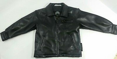 Weatherproof Garment Company Bk 100% Polyester leather like toddler4t/4 zip coat