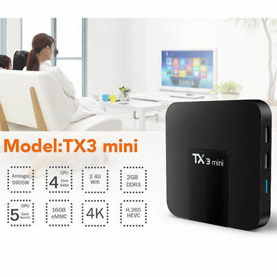 2017 MX9 PRO Android 7.1 Quad Core TV Box WIFI 16GB Media Player + Free Keyboard