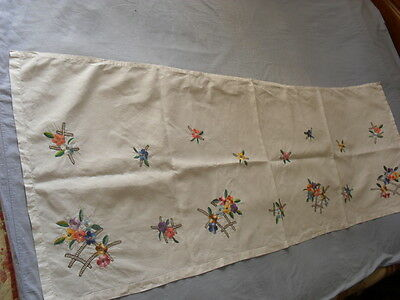Lovely Vintage Hand-Embroidered Curtain