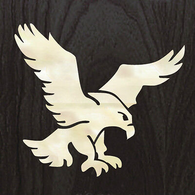 Jerry Garcia's Eagle (White Pearl) Grateful Dead  Inlay Sticker Guitar Bass