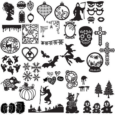 Xmas Halloween Metal Cutting Dies Stencil DIY Scrapbooking Decor Embossing Hot
