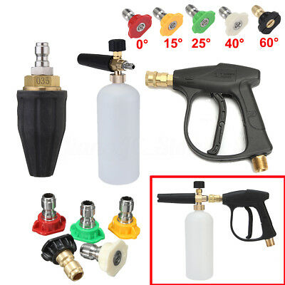 3600PSI 1L Pressure Washer Water Gun Spray Tips Rotary Turbo Nozzle Foam Lance