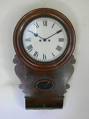 Antique Double Fusee Wall Clock.