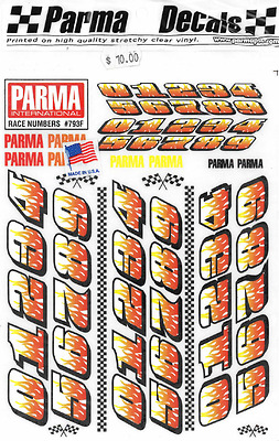 793F Parma, RACE NUMBERS, 1:24 scale Vinyl Stick On, Brand NEW