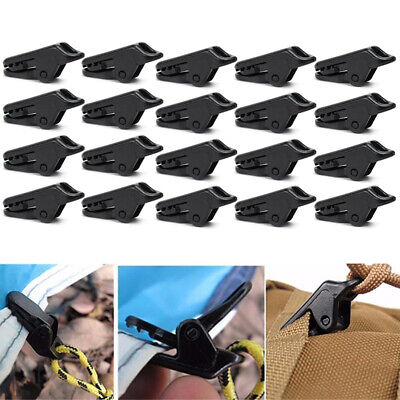 5/10/20xCamping Awning Canopy Clamp Tarp Clip Car Boat Cover Emergency Tent Snap