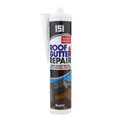 Black Roof And Gutter Sealant 310Ml Cartridge