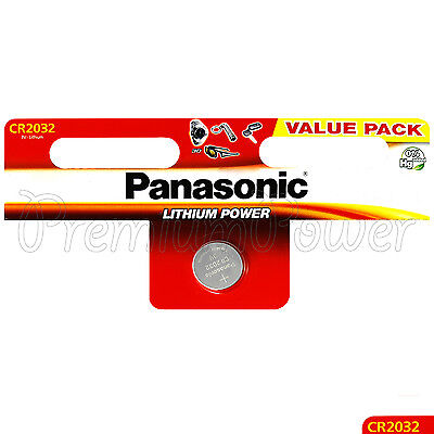 1 x Panasonic CR2032 battery Lithium Power 3V Coin Cell DL2032 BR2032 EXP:2027
