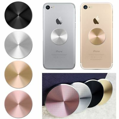 New Universal Metal Plates Magnetic Car Mount Phone Holder Round Circle Support