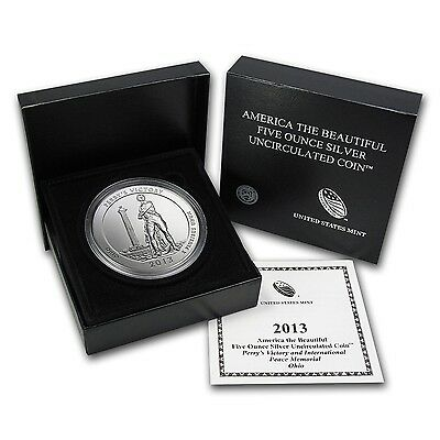 2013-P ATB PERRY's MEMORIAL 5 Oz SILVER SPECIMEN COIN BOX & COA SOLD OUT at MINT