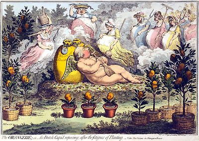 Painting Satire Gillray 1796 The Orangerie Giant Wall Poster Art Print Llf0711