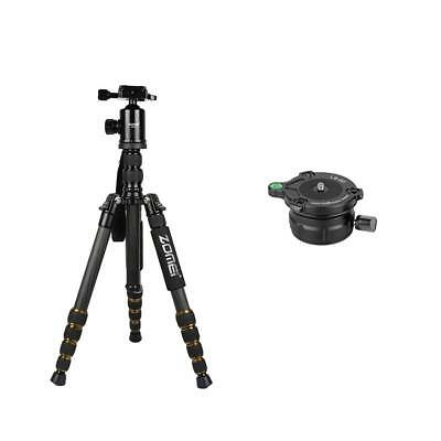 Tripod Leveling Ball Head Base w/ Bubble Level+Carbon Fiber Tripod for Canon