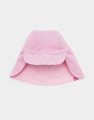 Joules Baby Girls Sunny Hat in Machine Washable 100% Cotton in Stripe