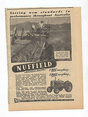 Nuffield Universal Tractor Advertisement removed from 1950 Australian Newspaper