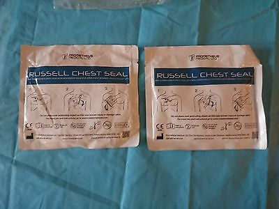 2 Russell Emergency Chest seal with integrated valve