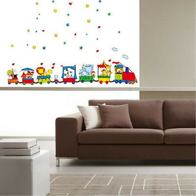 Animals Zoo Car Train Wall Stickers Decor Decal Removeable Children Kids Bedroom