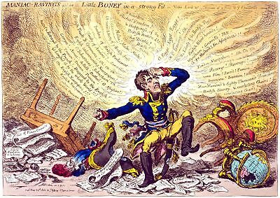 Painting Satire Gillray 1803 Maniac Ravings Giant Wall Poster Art Print Llf0715