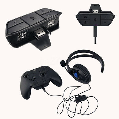 Stereo Headset Headphone Audio Games Adapter Jack Mic For Xbox One Controller