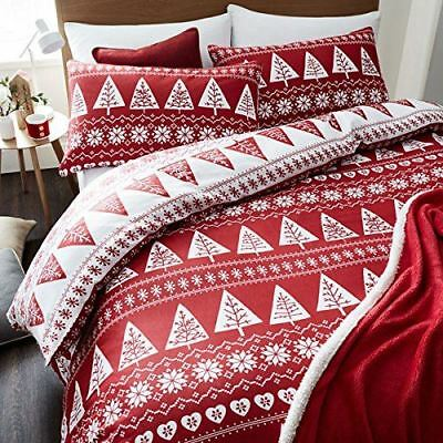 Catherine Lansfield Nordic Trees Scandi Bedding Seasonal Winter Duvet Cover