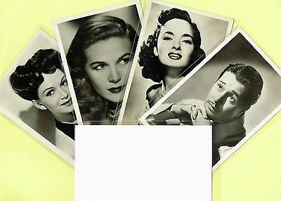 1950s Film Star Plain Back Postcard Size Cards issued in Belgium (Ref: ANON07a)