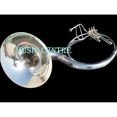 """Sousaphone 22""""bell Pure Brass Made In Chrome Polish+Case+Mouthpc+ Free Shipping"""