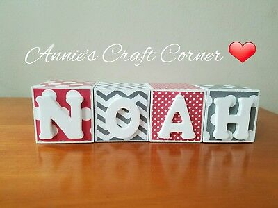Personalized Baby Name Letter blocks for maternity photo prop and shower gift