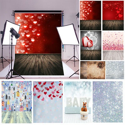 5x7ft Vinyl Valentine' Day Love Photography Background Studio Photo Backdrop New