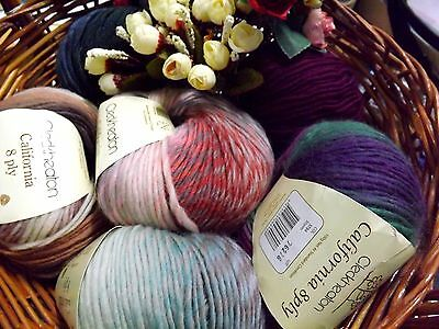 CLECKHEATON CALIFORNIA 8 ply 100G BALL KNITTING YARN 100% Pure New WOOL