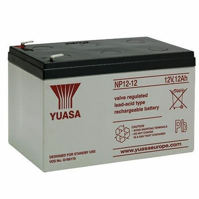 2 X YUASA 12V 12AH AGM/SEALED Rechargeable Battery Kymco Mobility Micro ForU