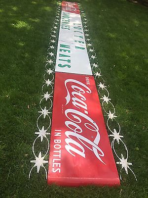 25' Porcelain Coca Cola Sign General Store With Filigree Coke