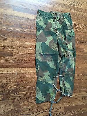 "camouflage pant,belgian congo,1955, used,40-39"" waist adjustable x30.5""inseam""H"""