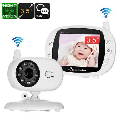 "Wireless Baby Monitor - 3.5"", , Dual-Way Audio,  Wireless, Music, 3m Night Vsion"
