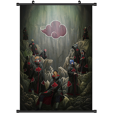 Anime Naruto Akatsuki home decor Wall Scroll Poster cosplay 2709