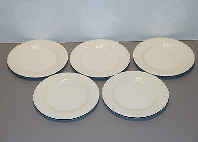 """Five Regency Bread and Butter Plates 6 1/4"""" - Johnson Brothers"""