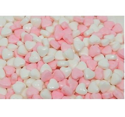 2Kg Pink & White Messenger Compressed Mini Heart Wedding Hard Lolly Candy Buffet