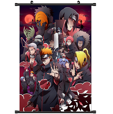 Anime Naruto Akatsuki home decor Wall Scroll Poster cosplay 2710