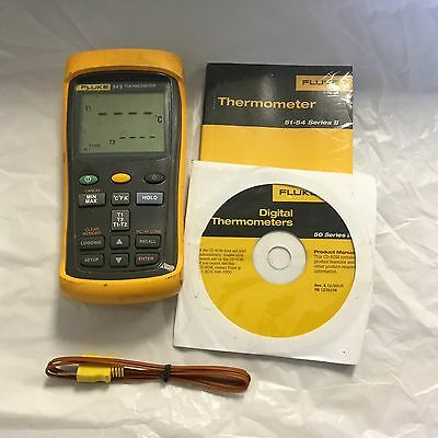 Fluke 54 II Dual Input Digital Thermometer Pre- Owned