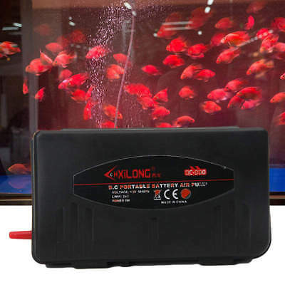 5W Aquarium Battery Operated Fish Tank Air Pump Aerator Oxygen