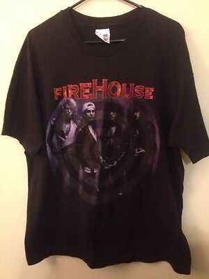 Rare Vintage Firehouse Band Shirt 90s Hold Your Fire Size XL Made in USA 1992