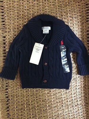 New Baby Boy Ralph Lauren Polo Cardigan 6 months New With Tags gift BNWT RRP £85