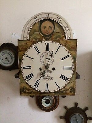 Rolling Moon 8 Day Grandfather Clock Movement & Dial