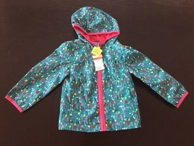 NWT Girl's CAT & JACK Hooded Rain Jacket - Size 2T NEW